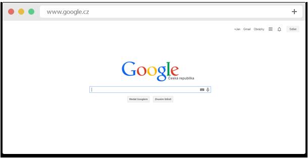 Google internetový vyhledávač